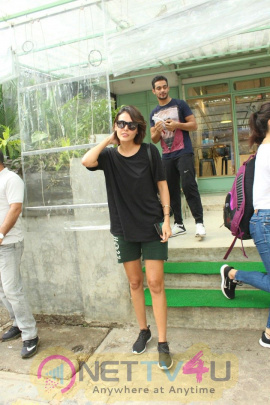 Mandana Karimi Spotted At Kitchen Garden In Bandra Images