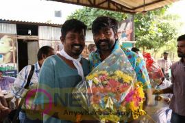 Actor VijaySethupathi Birthday Celebration At Karuppan Movie Spot Stills Tamil Gallery