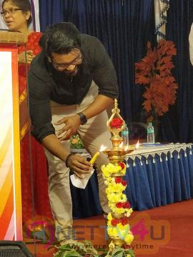 Actor Prabha Attend Vaibhavi 2018 At Krishna Samy Women's College Pics Tamil Gallery