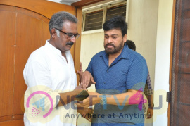 Mega Star Chiranjeevi Visited Actor Banerjee House Pics  Telugu Gallery