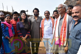 Tej I Love You Movie Team At Durga Temple Images