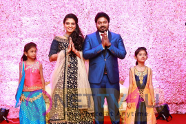 Actor Pandiarajan Son Wedding Reception Photos  Tamil Gallery
