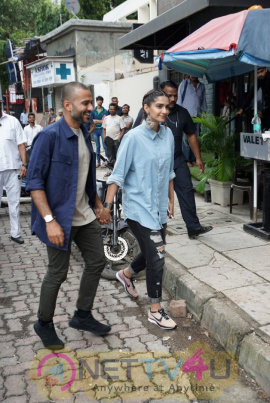 Sonam Kapoor And Anand Ahuja Make Their Way To Open Their New Store In Images