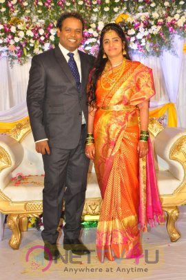 Telugu Comedian Harish Wedding Reception Stills Telugu Gallery