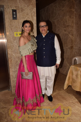 Tusshar Kapoor, Kriti Sanon & Other Celebs At Attend Producer Ramesh Taurani Diwali Party Photos Hindi Gallery