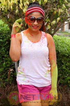 Actress Madhulagna Das Holi Celebrations Gallery Telugu Gallery