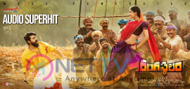 Rangasthalam Audio Super Hit Poster Telugu Gallery