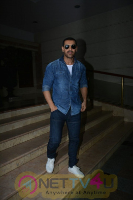 Aisha Sharma ,John Abraham ,Milap Spotted At Radio City In Bandra Cute Images
