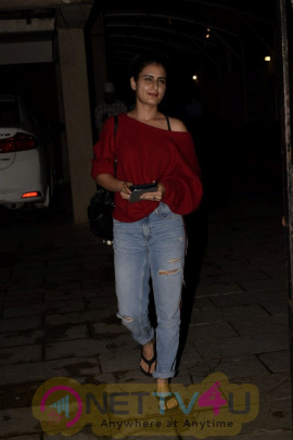 Fatima Sana Shaikh Spotted At Bblunt Restaurant In Juhu Cute Images