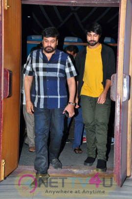 Megastar Chiranjeevi Watched Special Screening Of Vijetha Best Images  Telugu Gallery