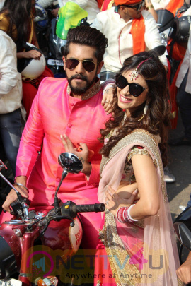 Bike Rally To Celebrate World Television Premiere Of Baar Baar Dekho With Kishwer Merchant & Suyyash Rai Photos Hindi Gallery