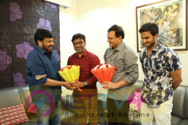 Sammohanam Team Celebrates Success Party With Megastar Chiranjeevi Telugu Gallery