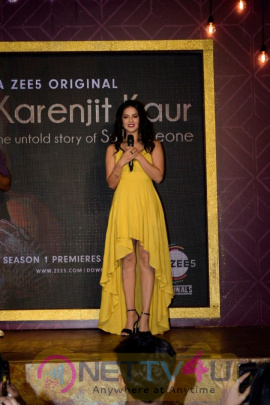 Launch Of Zee5 Karenjit Kaur The Untold Story Of Sunny Leone At Hard Rock Cafe Andheri Stunning Pics