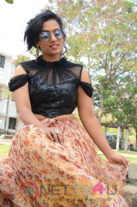 Actress Chetana Uttej Lovely Images At Pichiga Nachav Movie Press Meet Telugu Gallery