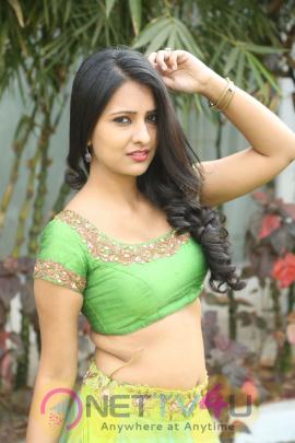 Actress Nikita Bisht Cute Images At Pochampally Ikat Art Mela Launch