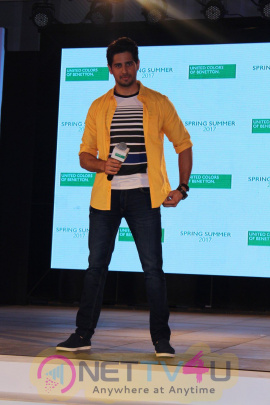 Sidharth Malhotra At Launch Of United Colors Of Benetton Spring Summer 2017 Stills Hindi Gallery