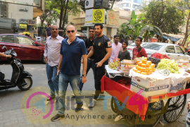 John Abraham Spotted At Kitchen Garden Restaurant Hindi Gallery