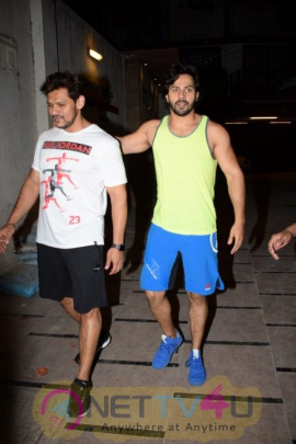 Actor Varun Dhawan Spotted At Juhu