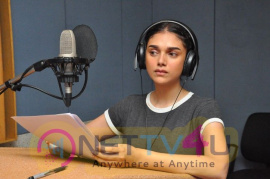 Actress Aditi Rao Hydari Dubbing For Sammohanam Movie