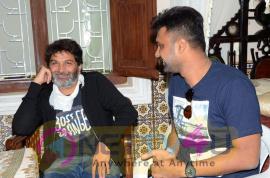 Aatagadhara Siva Movie Hero Uday Shankar Meets Trivikram Srinivas Exclusive Stills