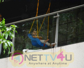 Taimur Ali Khan Spotted Playing In A Swing At His Bandra Residence Best Images  Hindi Gallery
