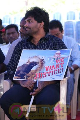 Nadigar Sangam Jallikattu Support Protest Photos Tamil Gallery