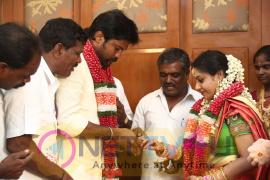 Actor Soundararaja & Tamanna Engagement Images