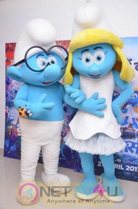 Smurfs The Lost Village Movie Press Meet Pics Telugu Gallery
