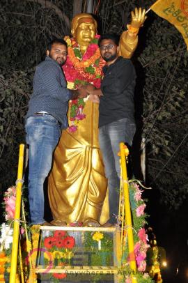 Gautamiputra Satakarni Success Celebrations By Fans At Bhramaramba Theater Stills Telugu Gallery
