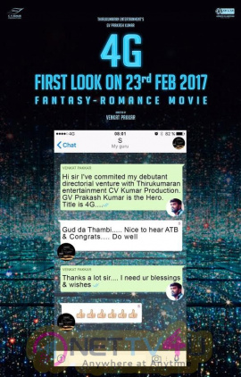 4G Movie Prelook Attractive Poster Tamil Gallery