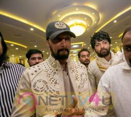 Actor Kiccha Sudeep At Rishab Shetty's Marriage Pics Kannada Gallery