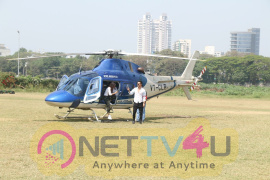 Tiger Shroff & Disha Patani Arrive In Chopper At Mahalaxmi Racecourse Pics