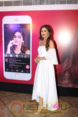 Mobile App Launch With Krystle D'Souza Stunning Pics Hindi Gallery