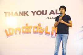 Director/Cum Actor Sj Surya At Monster Movie Thanks Meet Photos