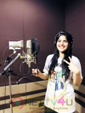 Megha Akash Thriving Voice For Boomerrang  Tamil Gallery