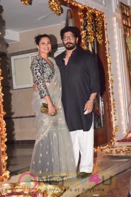 Actress Shilpa Shetty Diwali Party Images