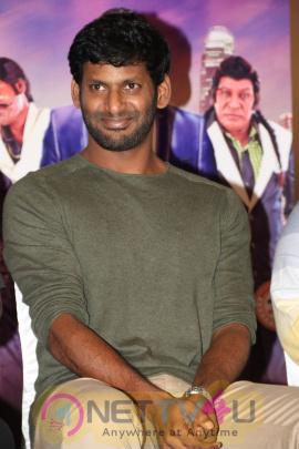 Actor Vishal Press Meet Stunning Stills