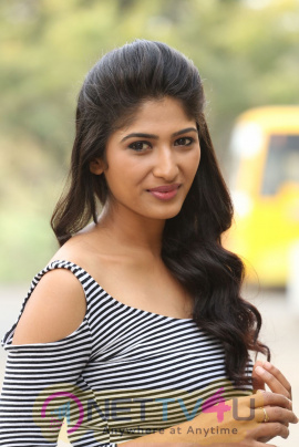 Actress Roshini Prakash Statuesque Photos At Sapthagiri Express Telugu Movie Press Meet  Telugu Gallery