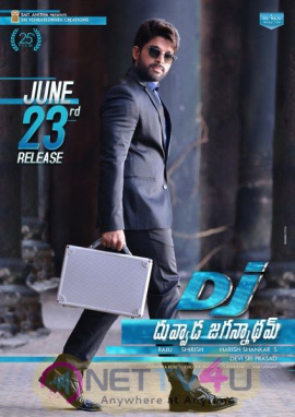 Duvvada Jagannadham Movie Stunning Release Poster and stiil Telugu Gallery