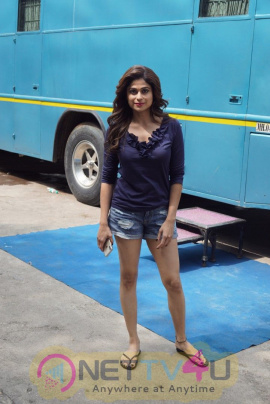 Shamita Shetty Spotted At Radha Laxmi Studio In Mumbai Beautiful Stills