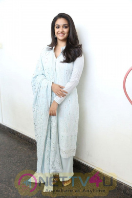 Keerthi Suresh Recent Interview Stills For The Movie Nadigaiyar Thilagam  Beautiful Pics