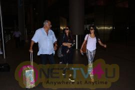 Sridevi, Janhvi Kapoor & Boney Kapoor At Airport Stills