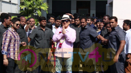Superstar Jackie Chan Arrives In Mumbai Airport Stills