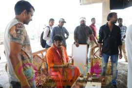 Telugu Movie Dwaraka Elegant Working Stills Telugu Gallery