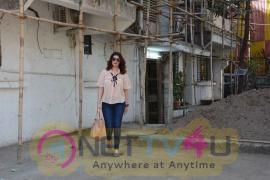 Twinkle Khanna Spotted At Kromakay Salon
