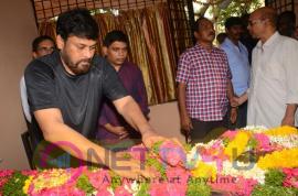 Chiranjeevi And Allu Aravind Has Paid Tribute To Nandagopal Exclusive Pics Telugu Gallery