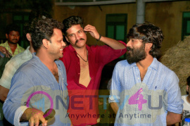 Actor Dhanush Visits PadaiVeeran Movie Set Images