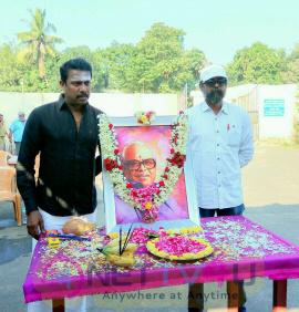 Thondan Movie Team Paid Tribute To K Balachander Photos Tamil Gallery