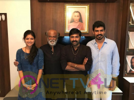 Superstar Rajinikanth Stunning Gift To Aruvi Movie Team Pic Tamil Gallery