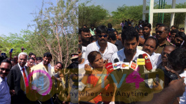 Actor Vishal Doing Public Service Photos In Kothangudi